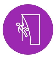 Rock climber line icon vector image