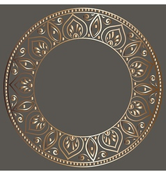 round gold frame vector image vector image