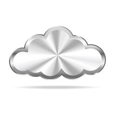 Silver Cloud Icon vector image vector image