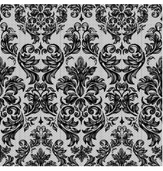 Baroque seamless vintage lace background vector image
