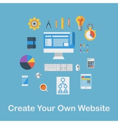 Create Your Own Website vector image