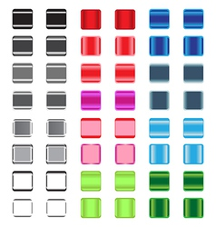 Set of glossy plastic buttons vector