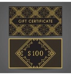 Vintage Gift Certificate vector image vector image