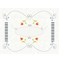 Background for wedding or invitation with floral vector image vector image