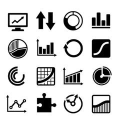 Business Diagram and Infographic Icons Set vector image vector image