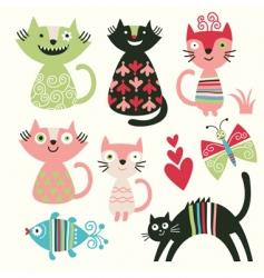 cute cats vector image