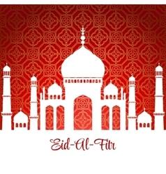 Eid Al Fitr Eid Mubarak background vector image