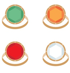 Set of female jeweler rings vector image vector image