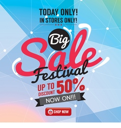 Big Sale 50 Percent Banner vector image