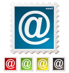 email stamp vector image vector image