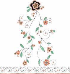 embroidery flower vector image vector image