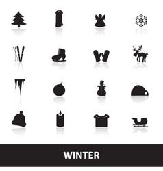winter icons eps10 vector image vector image