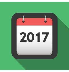 2017 calendar flat icon vector