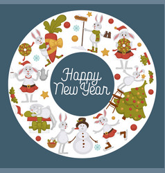 2019 new year celebration approaches winter vector image