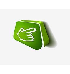 3d hand cursor icon vector image
