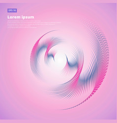 abstract halftone swirl circle curve pink vector image