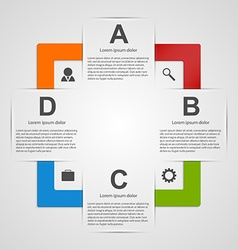 Abstract square colorful infographic design vector