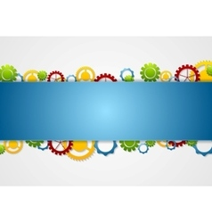 Abstract tech corporate background with gears vector