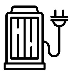 Accessible solar charging station icon outline vector