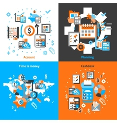 Accounting icons set flat vector image