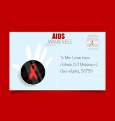 AIDS Awareness red ribbon World AIDS Day 1st vector image