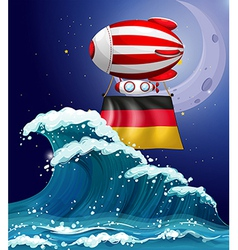 An air balloon with the flag of Germany vector image