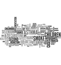 Antioxidants kw text word cloud concept vector