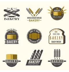 Bakery logos set vector image