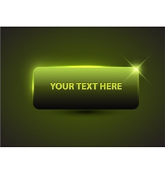 Big green button with sample text vector image
