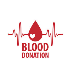 blood donor logo vector image