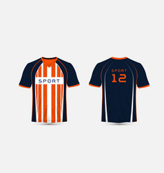 Blue white and orange stripe pattern sport vector