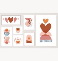 Bohemian boho valentines day hand vector