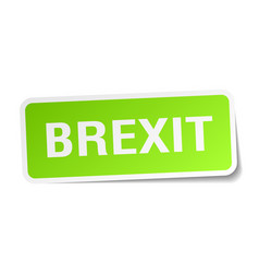 Brexit square sticker on white vector