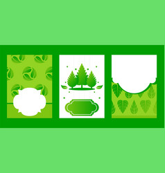 business card eco friendly company banner leaf vector image