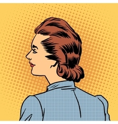 Business woman in profile vector