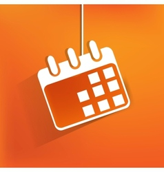 Calendar organizer web iconflat design vector image