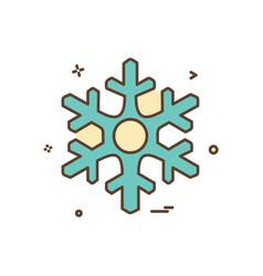 christmas snowflakes icon design vector image