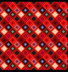 colorful geometrical diagonal square tile mosaic vector image