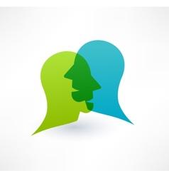 Community icon Dialogue concept Logo design vector image vector image