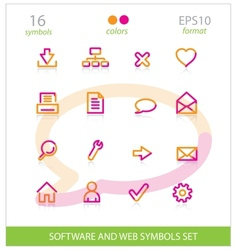 creative interface software symbols set vector image