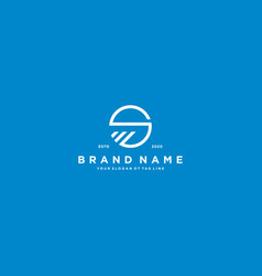 Creative letter s financial chart logo design vector