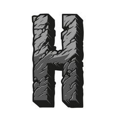 Desert vintage letter h gray template vector