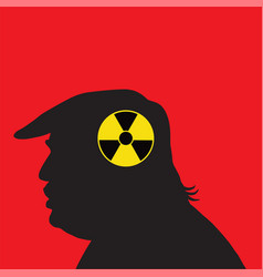 donald trump and nuclear silhouette vector image