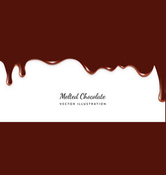 Dripping melted chocolate vector
