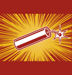 dynamite in comic book style design element for vector image