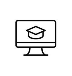 e learning icon sign vector image