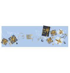 elegant minimal xmas gifts pattern vector image