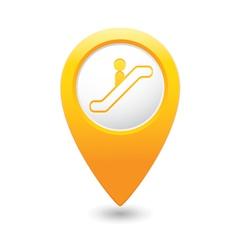 Escalator icon yellow map pointer vector