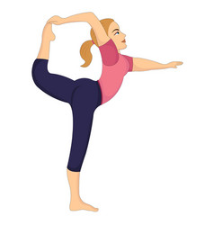 Exercising woman doing stretching vector
