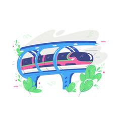 fast public transport train vector image